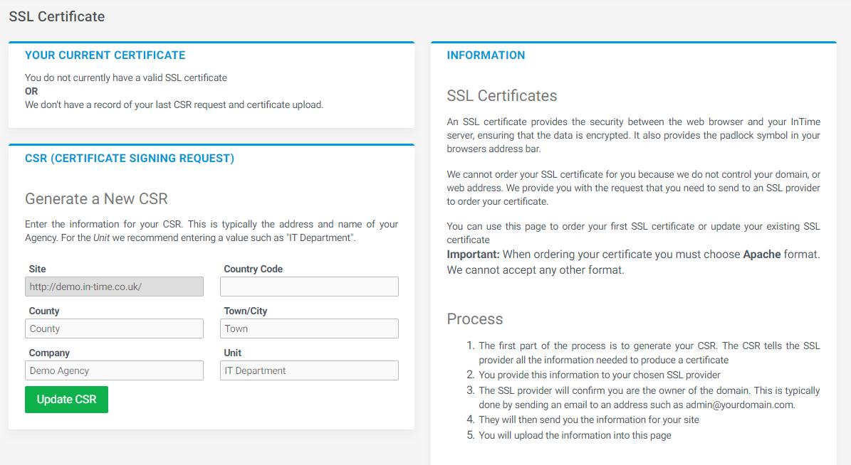 Ssl Certificates Intime Intime